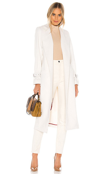 PAIGE Greylin Wool Coat in White