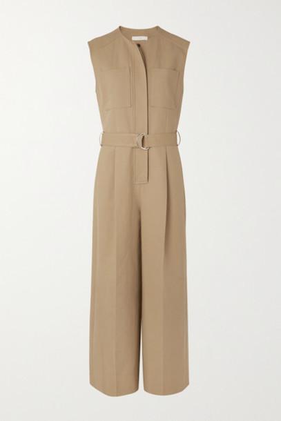 LVIR - Belted Cotton Jumpsuit - Camel