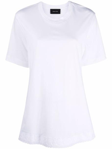 Simone Rocha lace-trim T-shirt - White