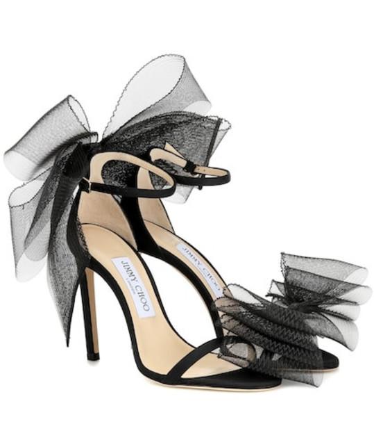 Jimmy Choo Aveline 100 embellished sandals in black