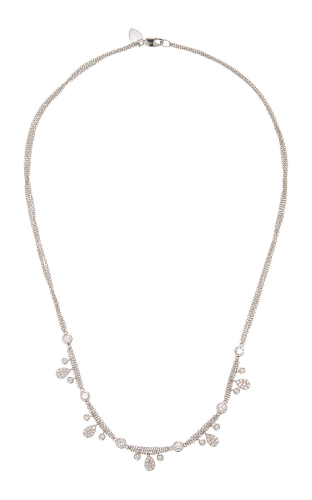 Meira T 14K Gold Diamond Necklace in white