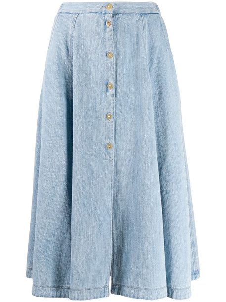 Forte Forte flared midi skirt in blue