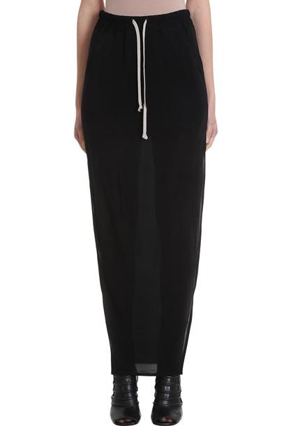 Rick Owens Dirty Skirt in black