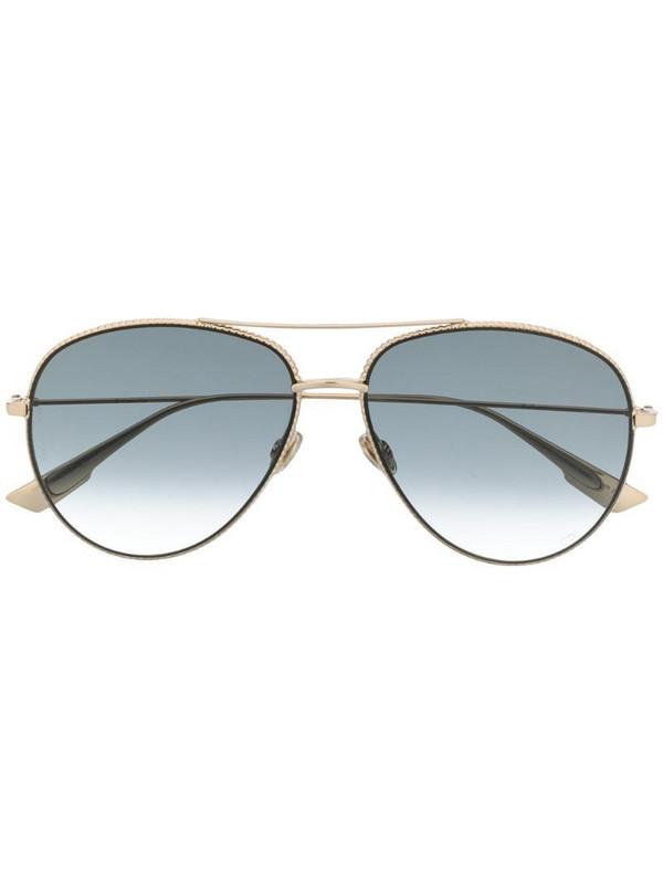 Dior Eyewear Diorsociety3 pilot sunglasses in gold