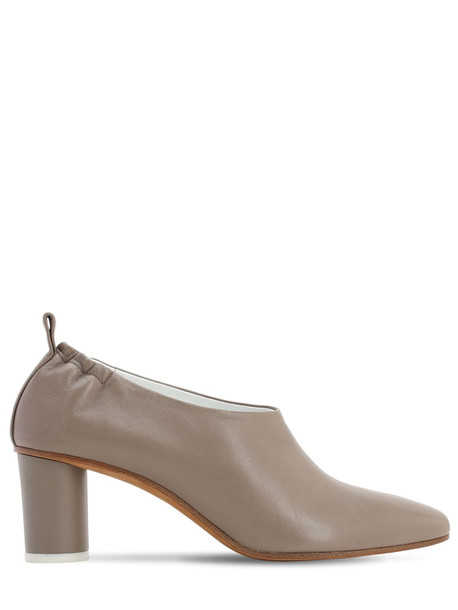 GRAY MATTERS 60mm Micol Leather Pumps in taupe