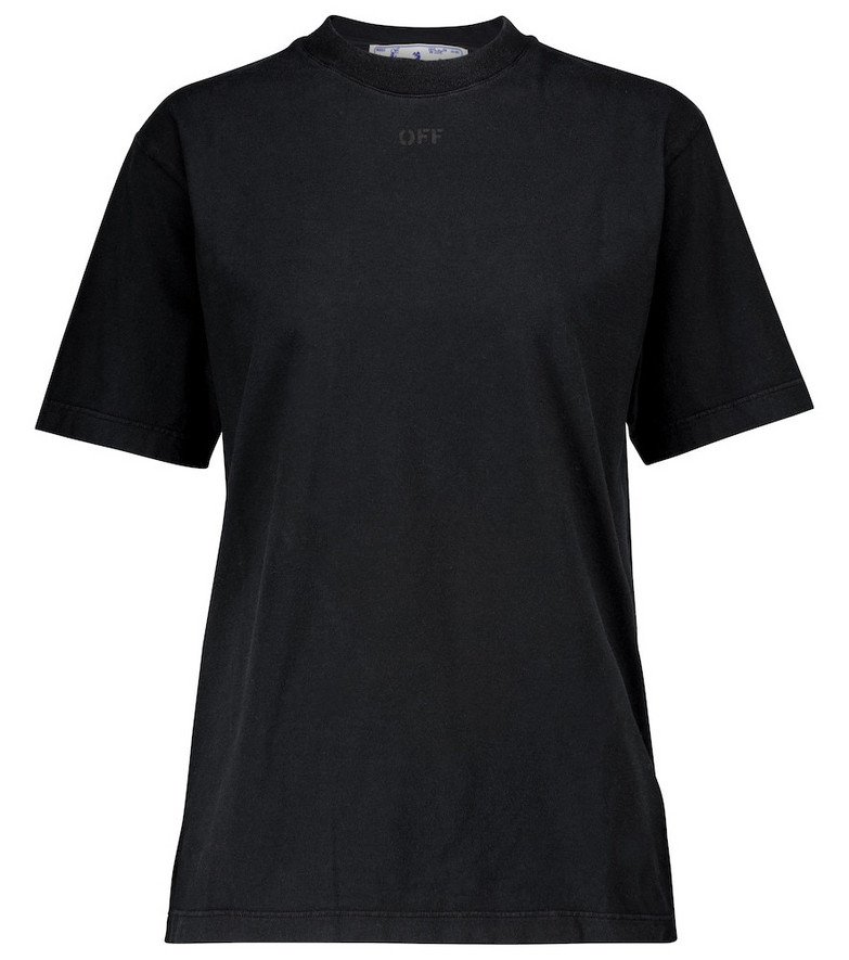 Off-White Arrows cotton jersey T-shirt in black