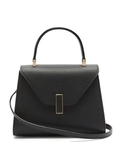 Valextra - Iside Mini Grained-leather Bag - Womens - Black