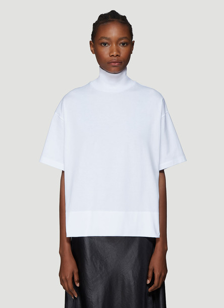 Acne Studios Stand Collar T-Shirt in White size XS