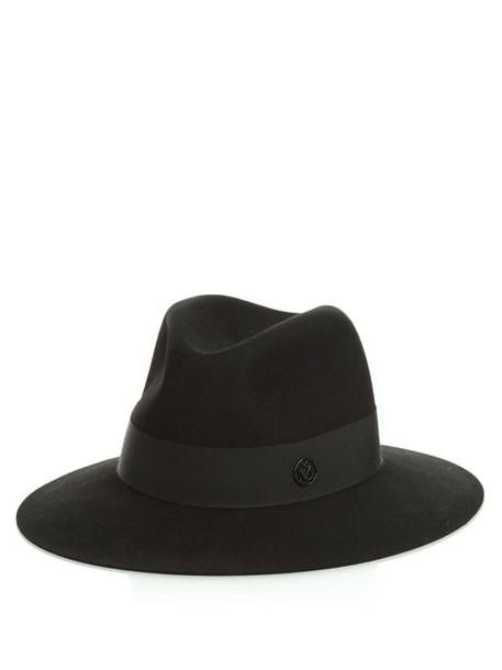 Maison Michel - Henrietta Showerproof Felt Hat - Womens - Black