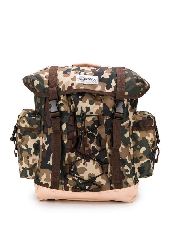 Eastpak x A.P.C camouflage backpack in brown