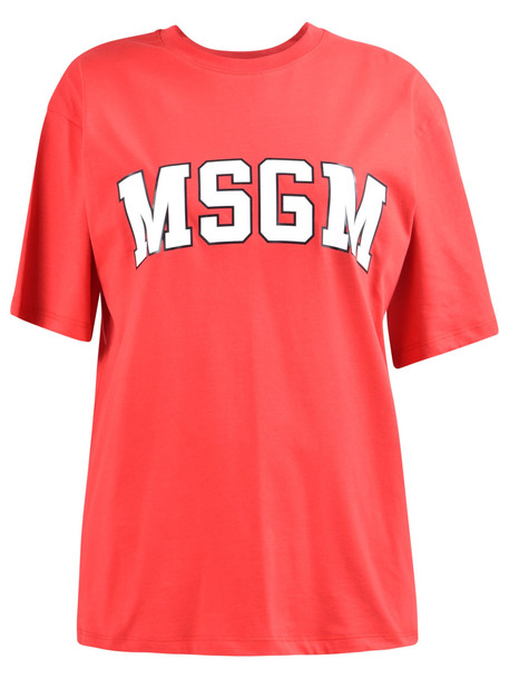 MSGM Branded T-shirt in red