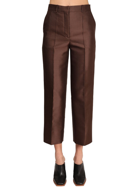 GIVENCHY Wool & Silk Pants in brown