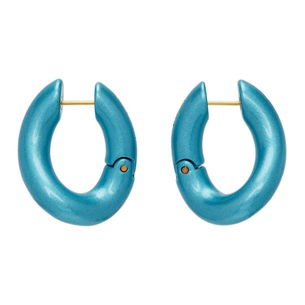 Balenciaga Blue Loop Earrings in turquoise