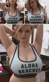 top,aloha,hawaiian,plus size,beaches,beach,sports bra,bra,bralette,surfchick,surf bikini,bustier