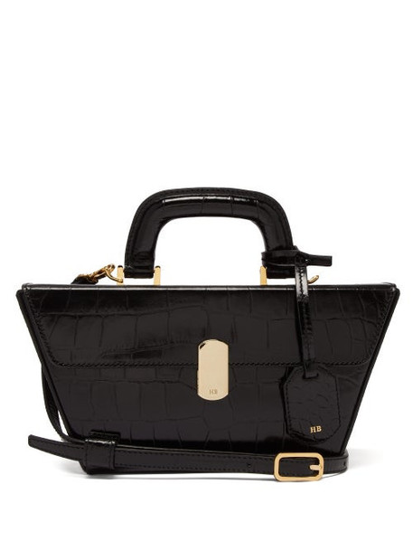 Hillier Bartley - Cassette Crocodile Effect Leather Bag - Womens - Black