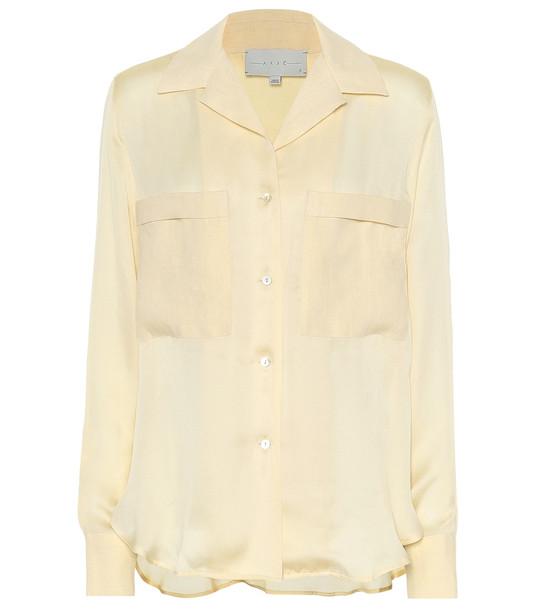 Arjé The Kaia silk shirt in beige