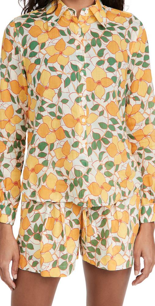 Birds of Paradis Jacquelin Shirt in yellow