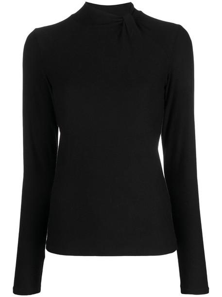 Vince fine-knit turtle-neck jumper in black