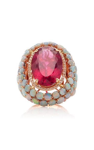 Wendy Yue Rubellite Dome Ring Size: 6.75 in multi