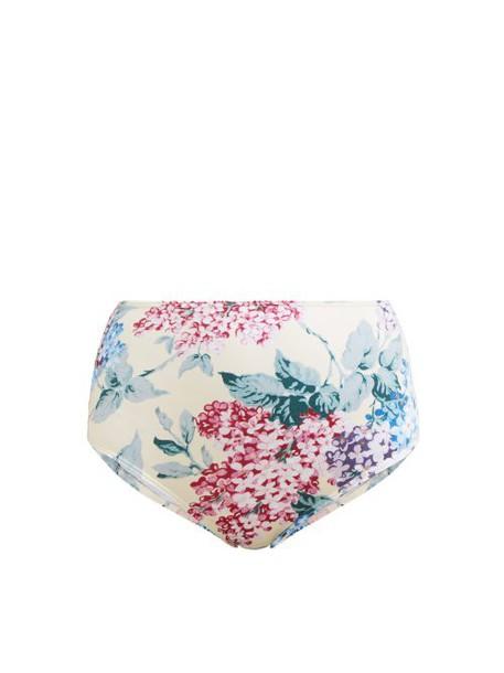 Ephemera - Bloom Floral Print Bikini Briefs - Womens - Blue Print