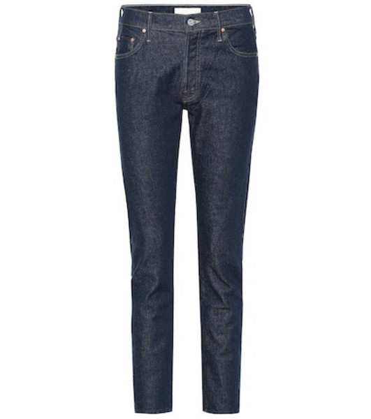 Mother The Stinger Flood mid-rise jeans in blue