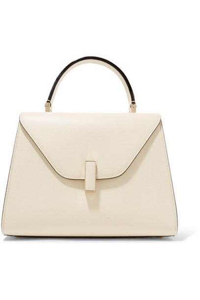 Valextra - Iside Medium Textured-leather Shoulder Bag - Cream