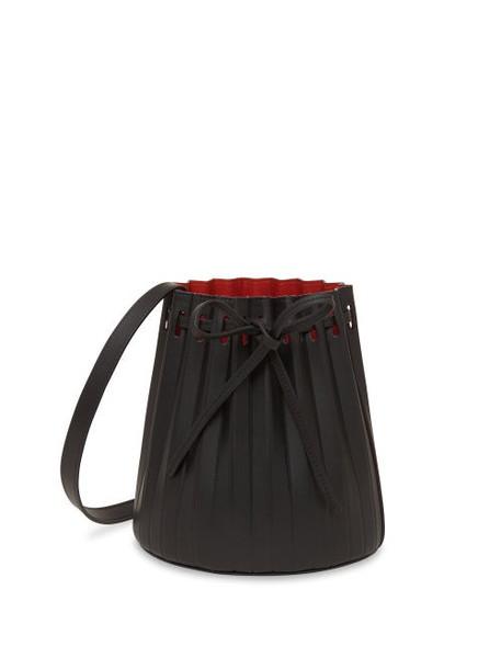 Mansur Gavriel - Pleated Mini Bucket Bag - Womens - Black