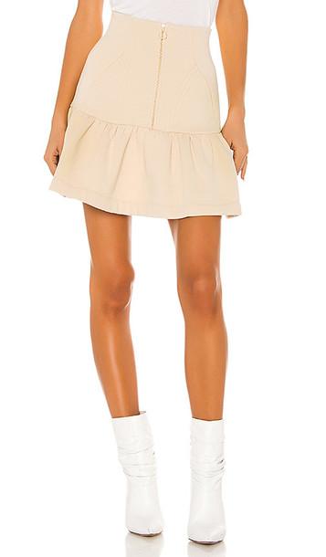 Selkie The Heather Skirt in Beige
