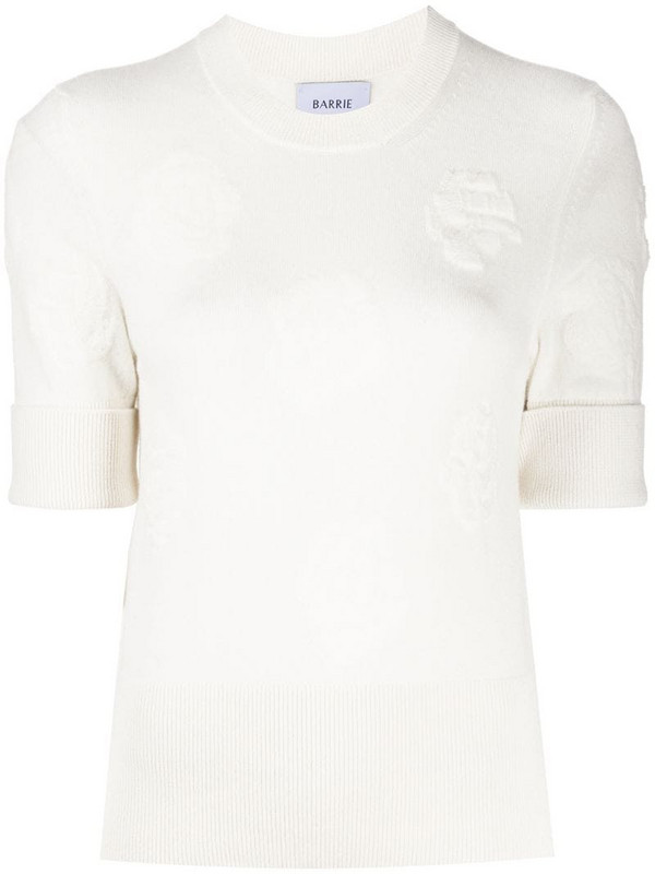Barrie rose cashmere knit top in neutrals