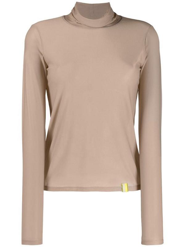 Aalto long-sleeved turtleneck top in neutrals