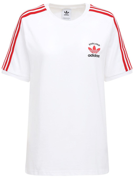 ADIDAS ORIGINALS 3-stripes England T-shirt in white