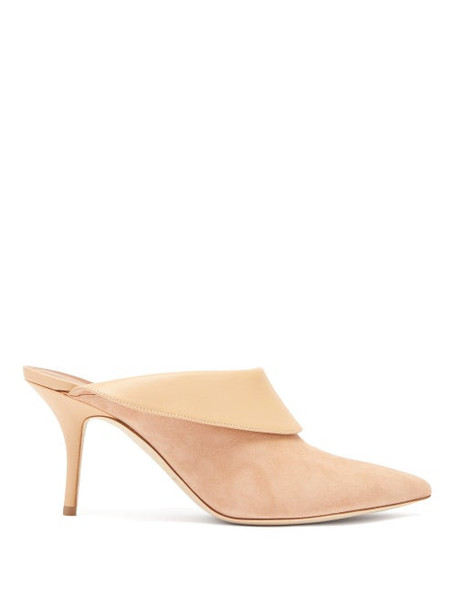 Malone Souliers - Tilly Suede Leather Mules - Womens - Nude