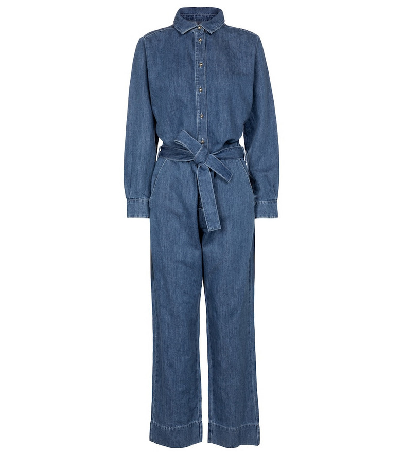 7 For All Mankind Honor denim jumpsuit in blue
