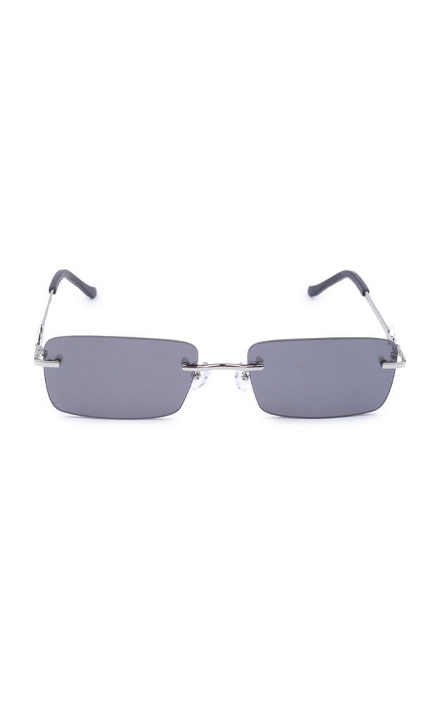 Karen Wazen Layla Square-Frame Metal Sunglasses in black