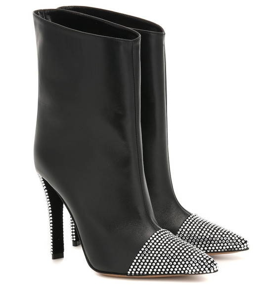 Alexandre Vauthier Christie leather ankle boots in black