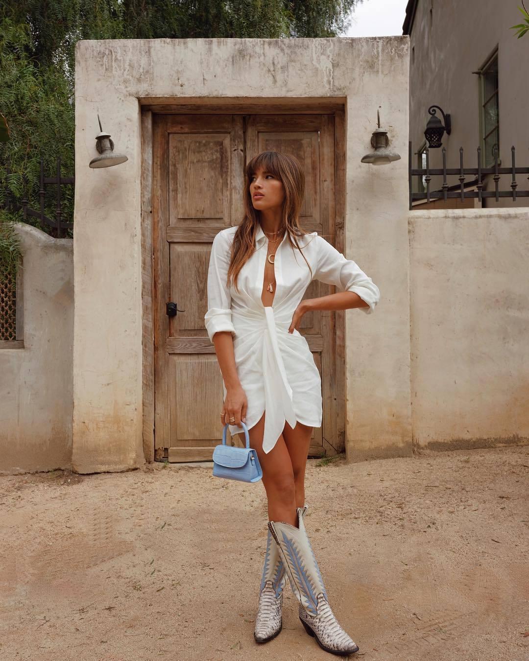 dress, white dress, mini dress, shirt