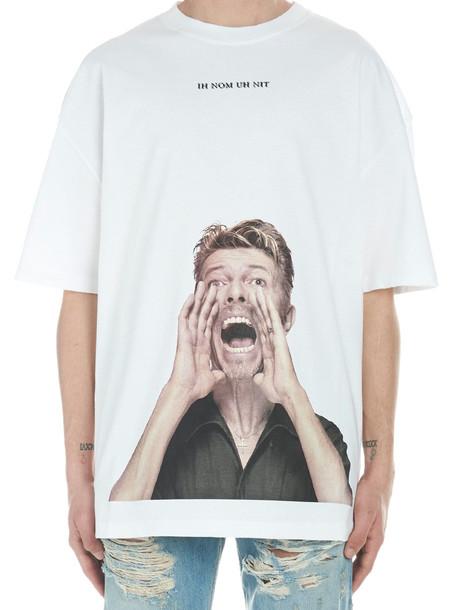 Ih Nom Uh Nit 'bowie Scream' T-shirt in white