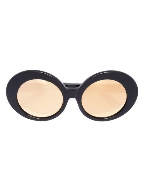 Linda Farrow oval sunglasses in black