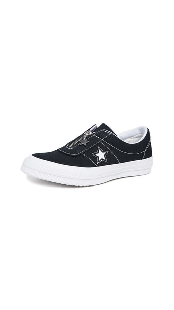 Converse One Star Slip Sun Baked Sneakers in black / white