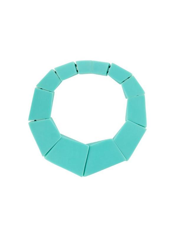 Monies Venezia geometric necklace in green