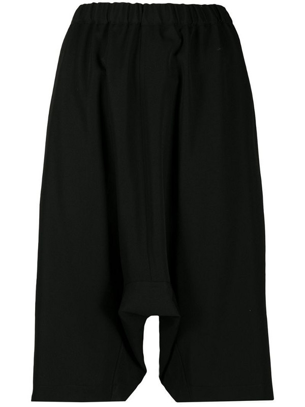 Comme Des Garçons Girl dropped crotch shorts in black