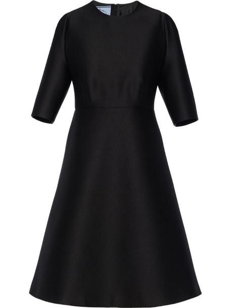 Prada structured flared dress in black