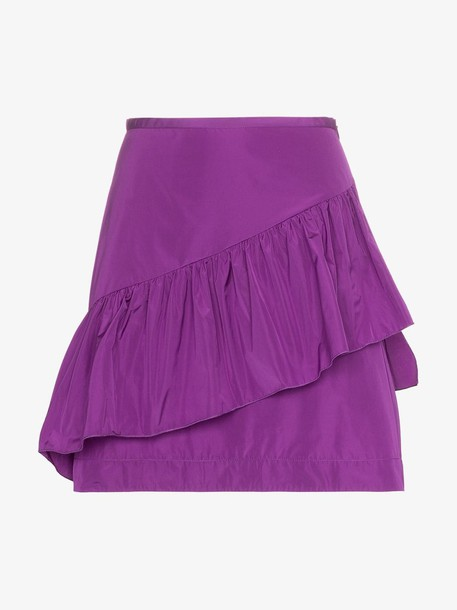 See By Chloé See By Chloé ruffle layer A-line mini skirt in purple