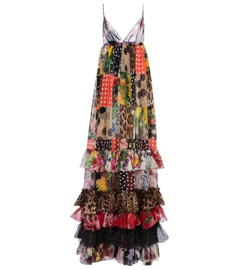 Dolce & Gabbana Printed silk chiffon gown
