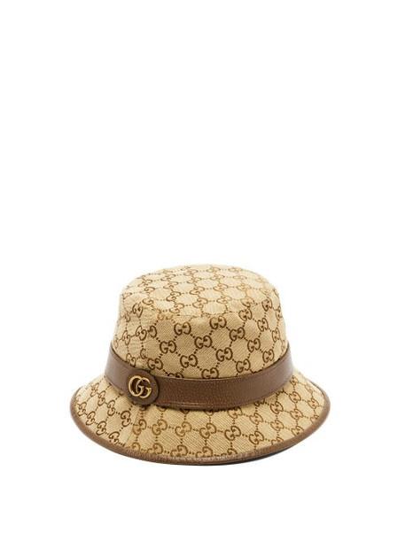 Gucci - GG Supreme Canvas Bucket Hat - Mens - Beige