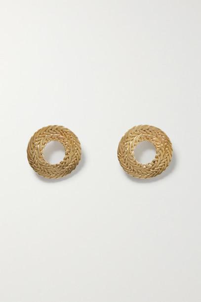 STVDIO - Petite Colette Gold-tone Earrings