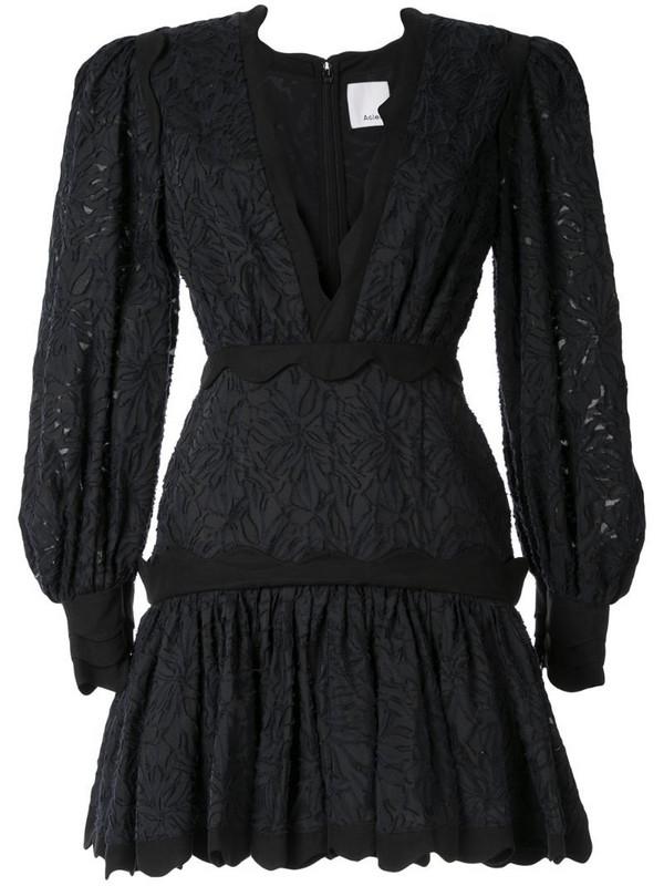 Acler Montana ruffled mini dress in black