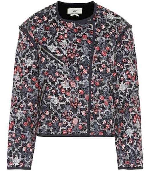 Isabel Marant, Étoile Manae printed linen jacket in blue