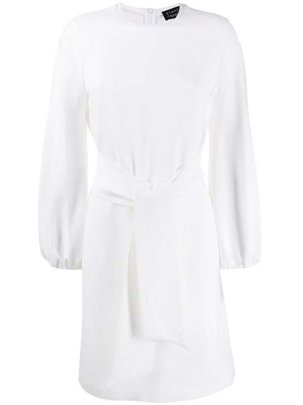 Gianluca Capannolo belted waist short dress in white