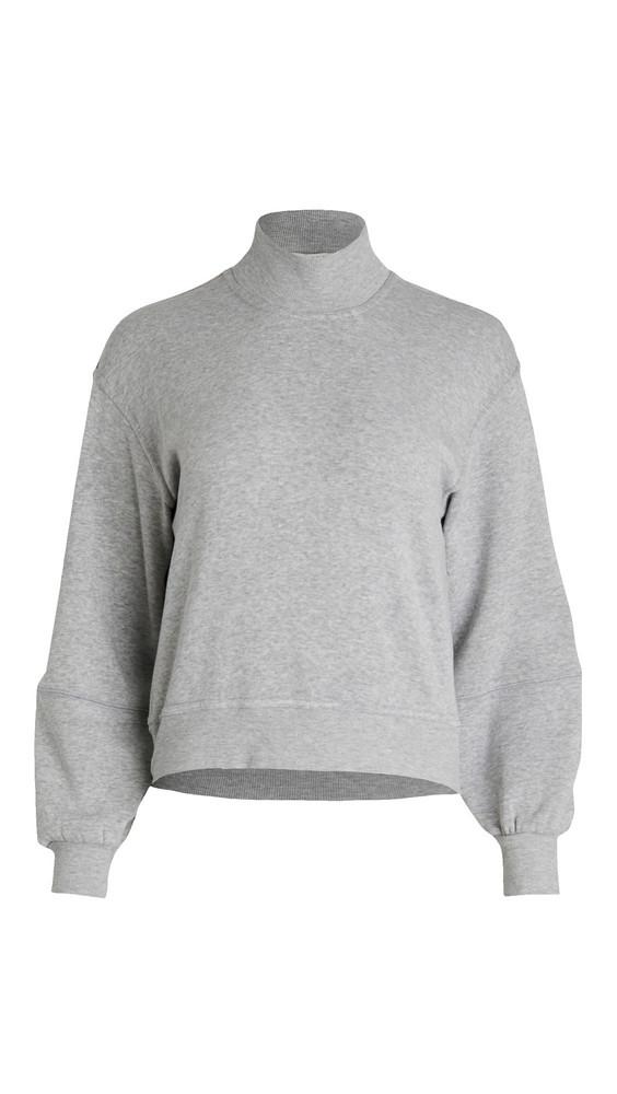 Z Supply Skylar Mock Neck Pullover Sweatshirt in grey